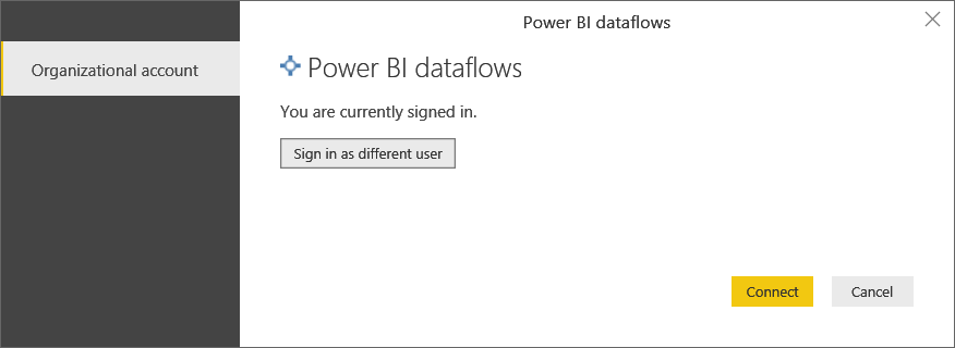 Connecting to a Power BI Dataflow