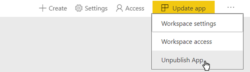 Power BI Unpublish App