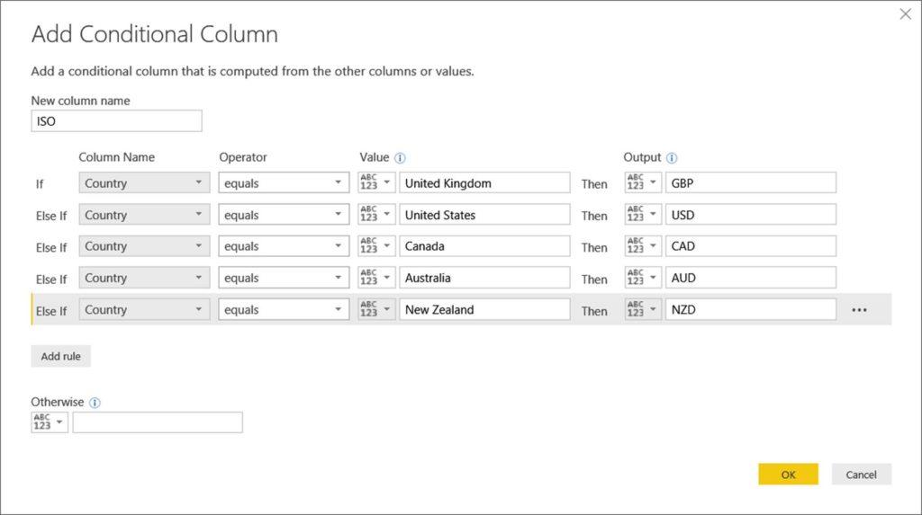 Conditional Columns